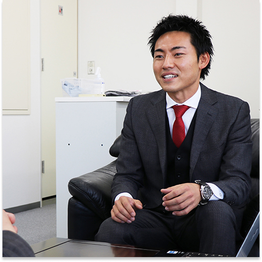 天野秀平インタビュー風景